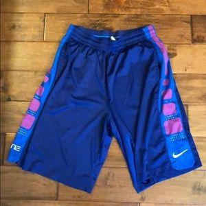 Blue/purple Nike Elite basketball shorts